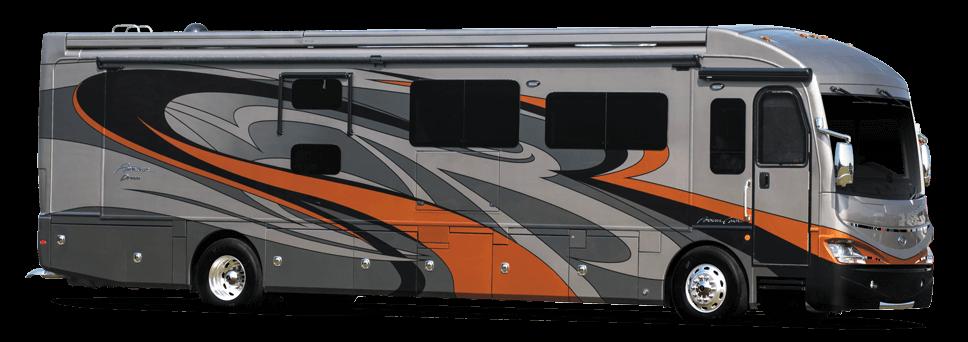 American coach rv luxury class a motorhomes class b for Class a rv with garage